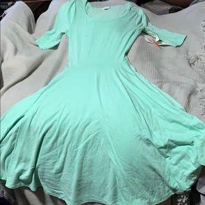 Sea foam green dress